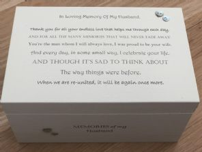 Personalised LARGE Box In Memory Of A Loved One HUSBAND Or Any Name Shabby Chic - 253463339204